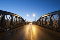 damy podpalana bridżowa noc Zdjęcie Royalty Free