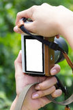 Damy ręka bierze fotografię Zdjęcie Stock