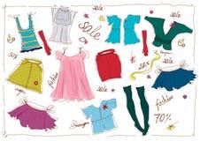 damy s sprzedaży odzież ilustracji