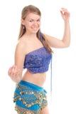 A dança árabe executou por um blonde bonito Imagens de Stock Royalty Free