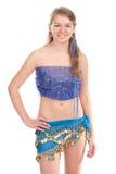 A dança árabe executou por um blonde bonito Fotografia de Stock