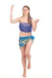 A dança árabe executou por um blonde bonito Fotos de Stock