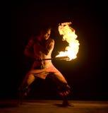 Dança 2531 do incêndio Imagens de Stock Royalty Free