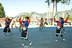 Dança aborígene do grupo de Alishan Fotografia de Stock