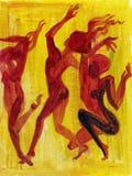 Dança abstrata ilustração royalty free