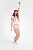 Dança adolescente feliz da menina Foto de Stock Royalty Free
