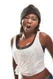 Dança africana nova hip-hop da mulher Fotografia de Stock Royalty Free