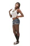 Dança africana nova hip-hop da mulher Imagens de Stock Royalty Free