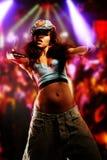 Dança agradável nova da menina Fotografia de Stock Royalty Free