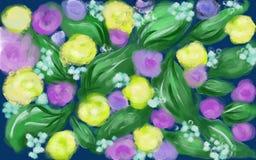 Dança alegre da mola das flores foto de stock