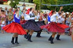 Dança alegre eslovaca Fotos de Stock