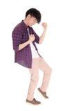 Dança asiática do homem Imagens de Stock