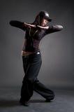 Dança atrativa da menina de hip-hop fotos de stock
