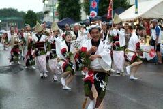 Dança /Awa Odori de Awa foto de stock