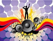 Dança background5 ilustração royalty free
