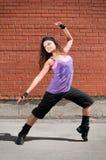 Dança bonita hip-hop do adolescente imagem de stock royalty free