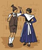 Dança checa - polca Imagens de Stock