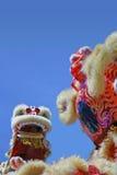 Dança chinesa do leão imagem de stock