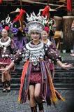 A dança chinesa do miao Imagem de Stock Royalty Free