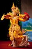 Dança clássica do birmanês foto de stock