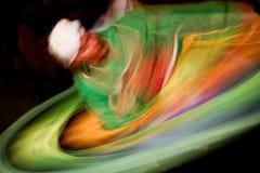 Dança com cores Fotografia de Stock Royalty Free
