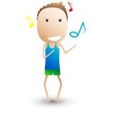 Dança, composição musical. desenhos animados engraçados Imagem de Stock Royalty Free