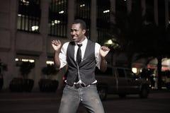 Dança considerável do homem fotografia de stock royalty free