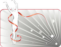 Dança da bailarina Imagens de Stock Royalty Free