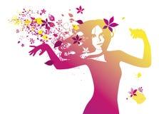 Dança da beleza ilustração royalty free