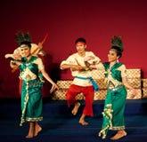 Dança da colheita, Camboja Fotografia de Stock Royalty Free