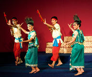 Dança da colheita, Camboja Imagem de Stock