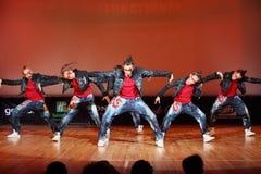 Dança da equipe da força de Banda Imagens de Stock