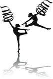 Dança da fita imagens de stock royalty free