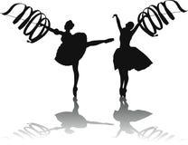 Dança da fita fotografia de stock royalty free