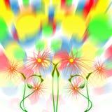 Dança da flor. ilustração do vetor