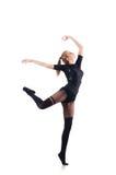 Dança da jovem mulher Fotografia de Stock Royalty Free