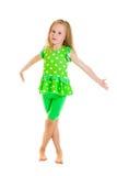 Dança da menina foto de stock royalty free