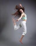 Dança da menina da beleza imagem de stock