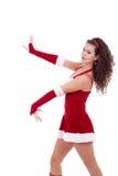 Dança da menina de Santa imagem de stock