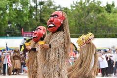 Dança da mostra de Laos da máscara Foto de Stock Royalty Free
