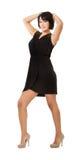 Dança da mulher fotografia de stock
