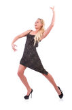 Dança da mulher Fotos de Stock Royalty Free