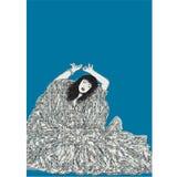 Dança da mulher com vestido Fotografia de Stock