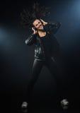Dança da mulher nova Imagem de Stock