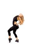 Dança da mulher nova Fotos de Stock
