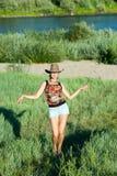 Dança da rapariga Fotografia de Stock Royalty Free