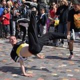 Dança da rua de Breakdancer Imagem de Stock