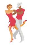 A dança da salsa Foto de Stock