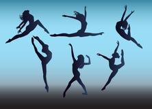 Dança da silhueta Foto de Stock Royalty Free