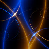 Dança das luzes. fractal02x3 ilustração royalty free